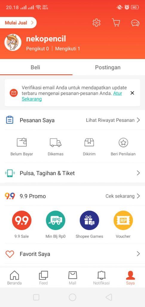 Cara Membuka Toko Di Shopee Terbaru 2021 Via Android Nekopencil