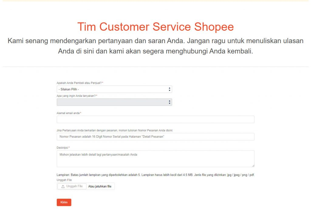 Call Center / Customer Service Shopee Terbaru 2020