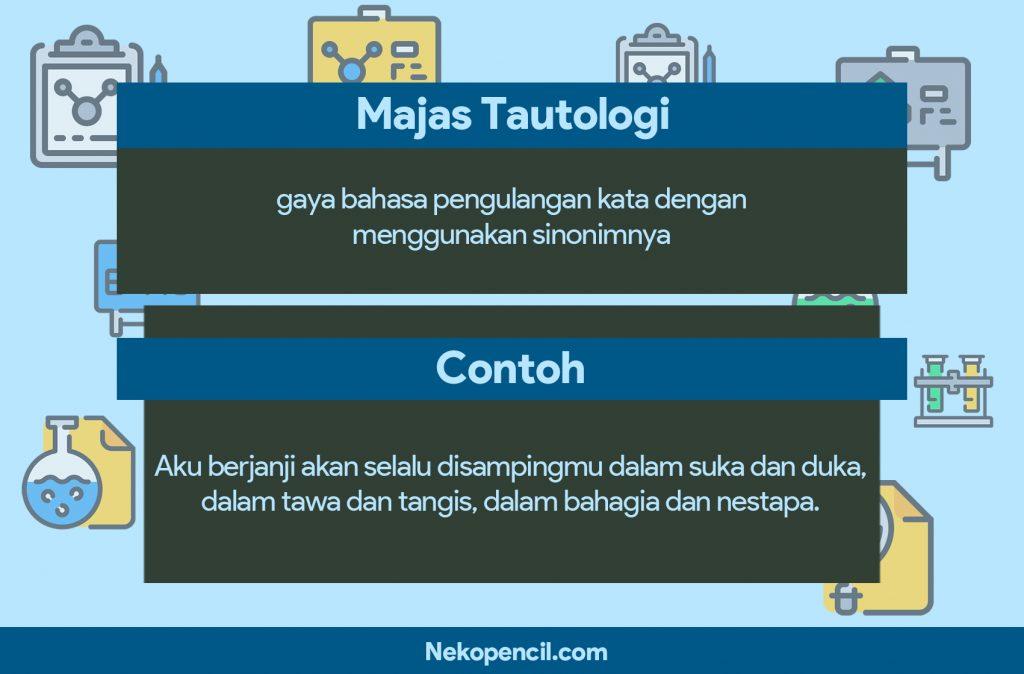 contoh majas tautologi