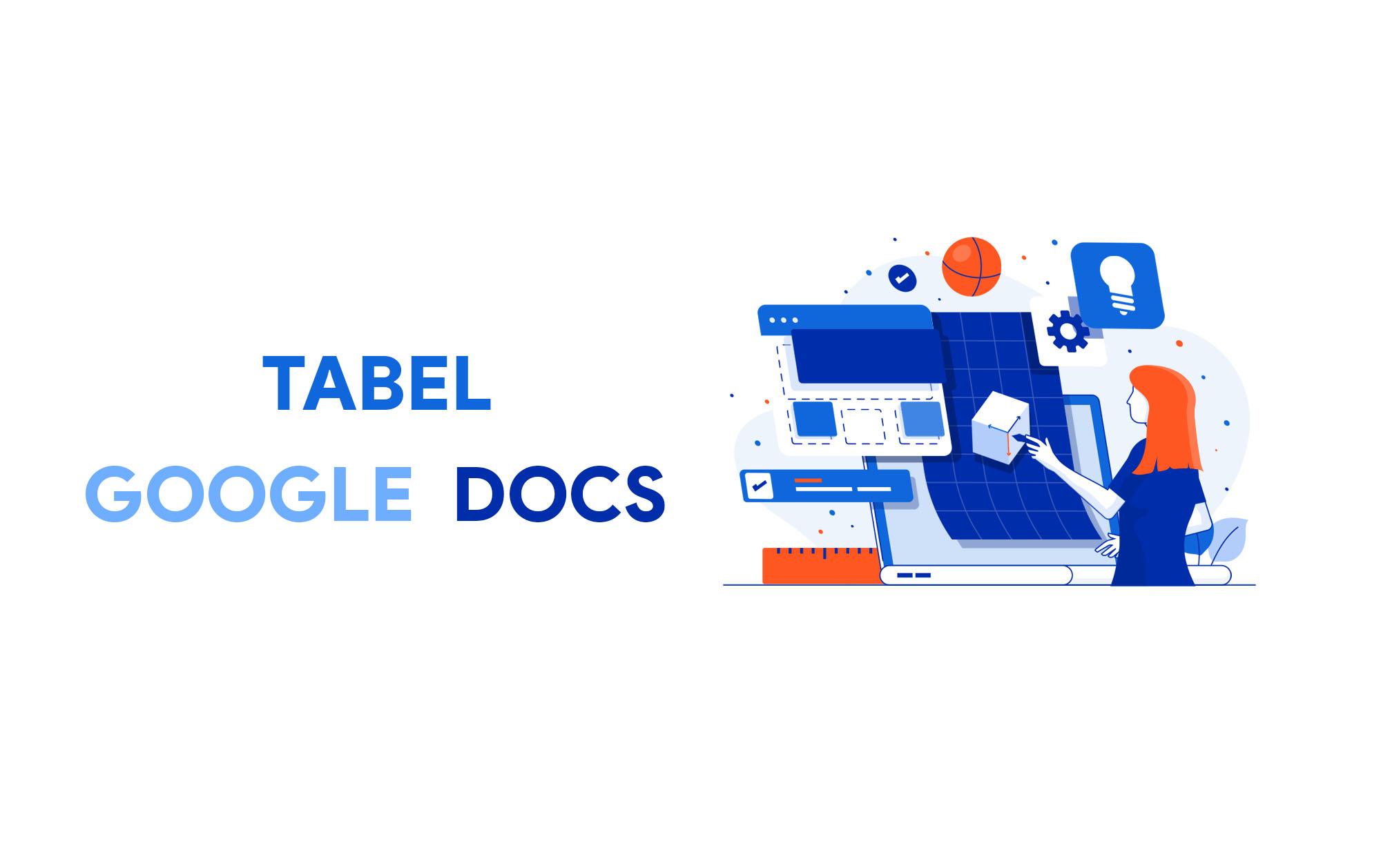 cara membuat tabel di google documents