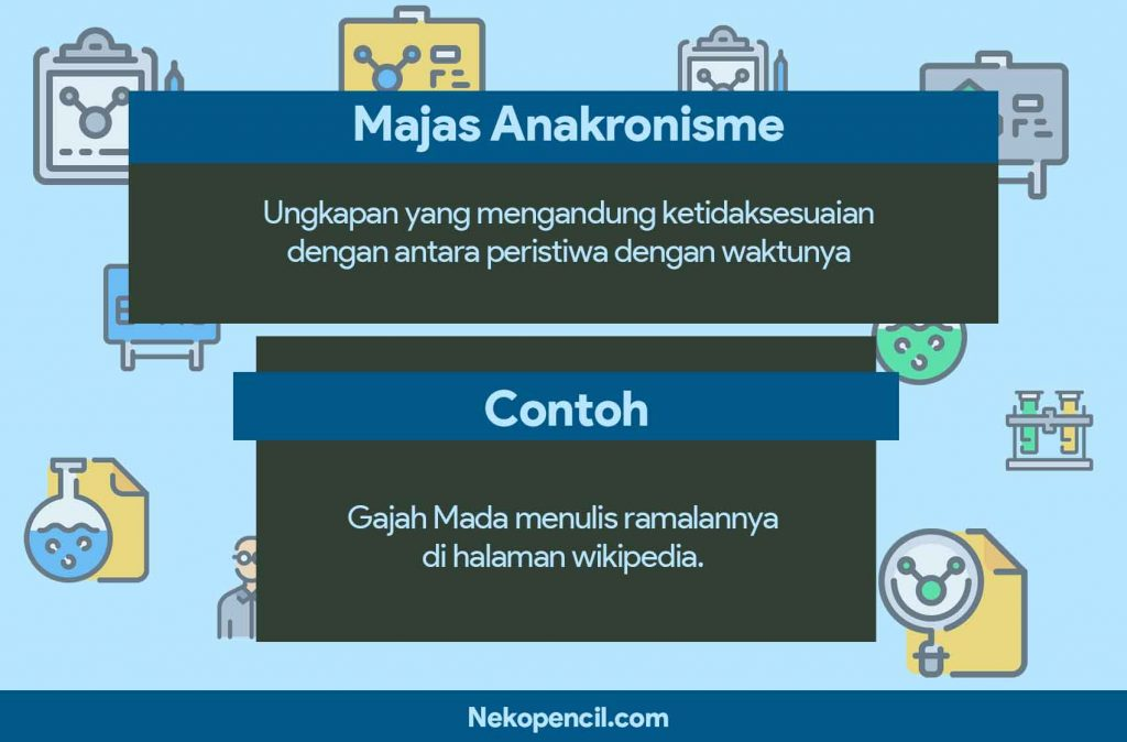contoh majas anakronisme