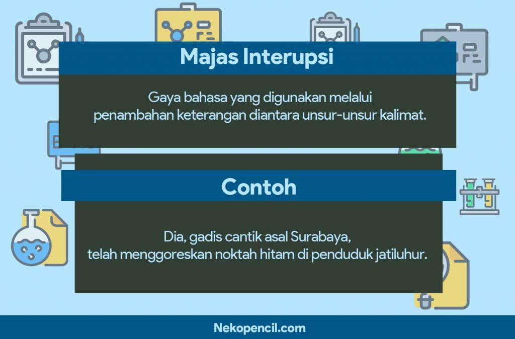 contoh majas interupsi
