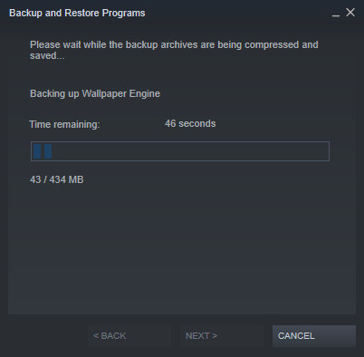 proses backup steam
