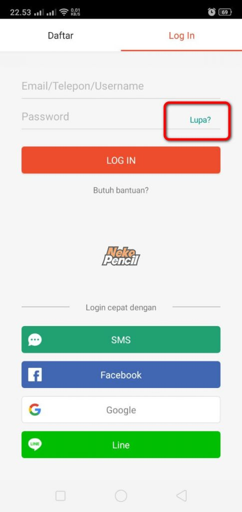 lupa password shopee