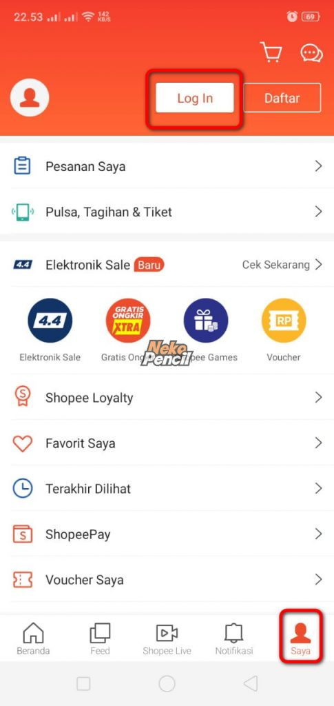 login shopee