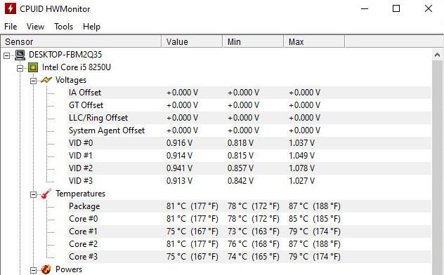 suhu laptop saat menggunakan vacum cooler Taffware LC06