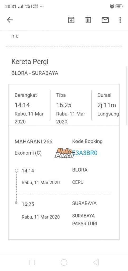 tiket traveloka via email