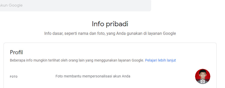 foto profile gmail