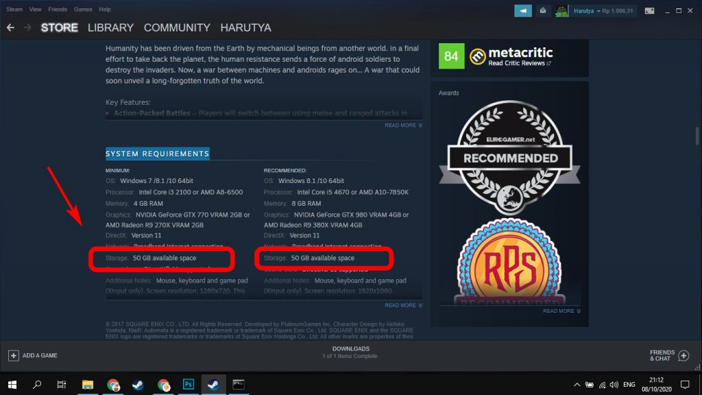 SYSTEM REQUIREMENTS Steam