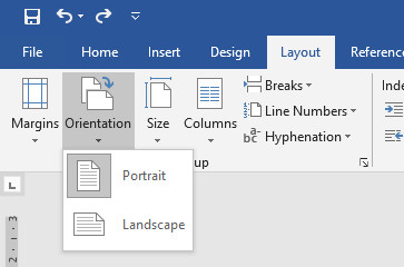 Mengubah orientasi MS Word